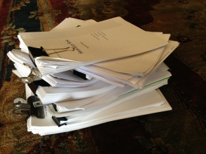 Pile of manuscripts