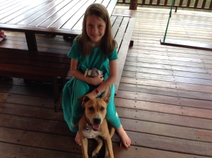 Abby with puppy jazzy