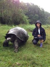 Sam with tortoise